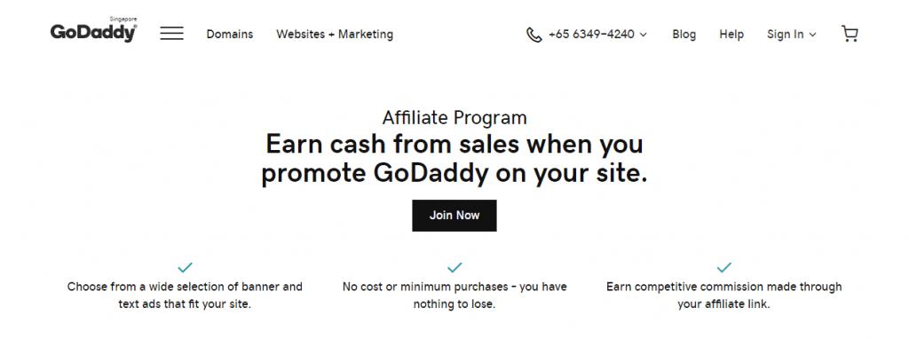 godaddy best affiliate marketing program