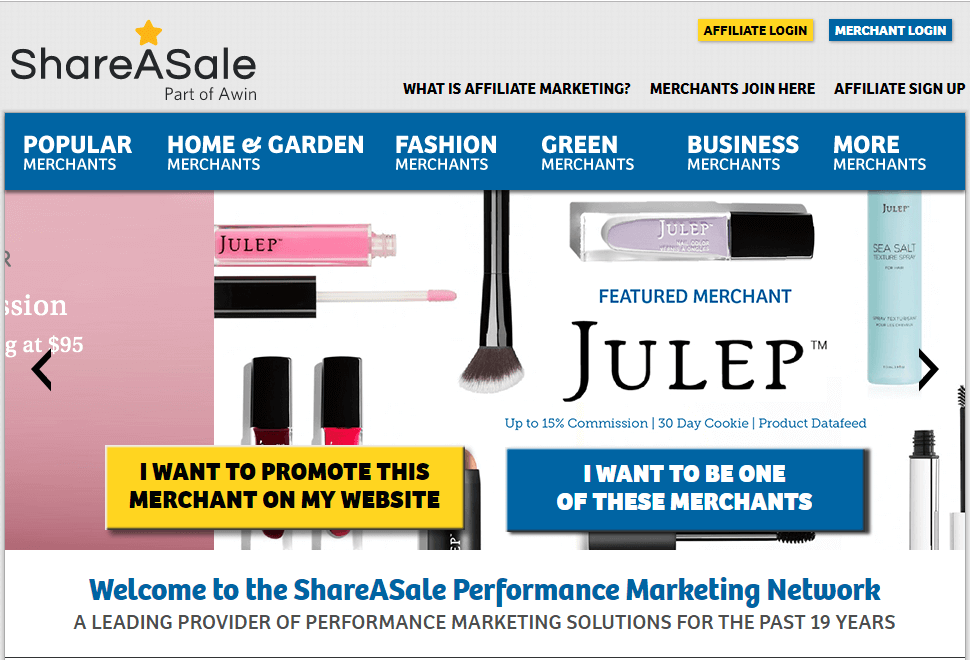 shareasale best affiliate marketing program