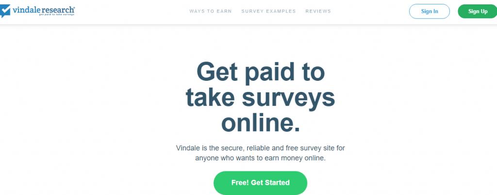 vindale research survey sites