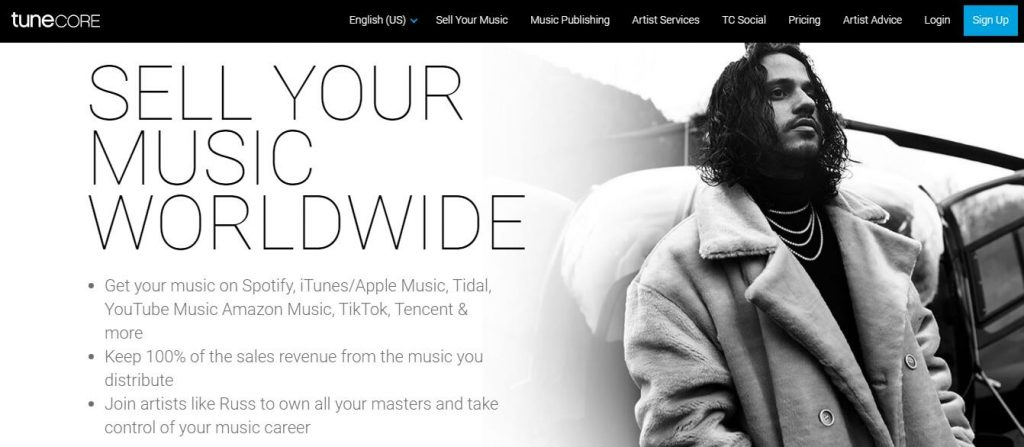 sell music online